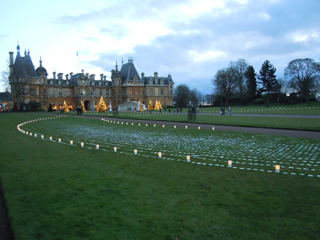 Waddesdon Manor, with CD installation in front