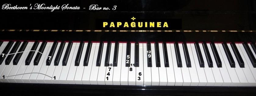 Beethoven's Moonlight Sonata Bar no.3