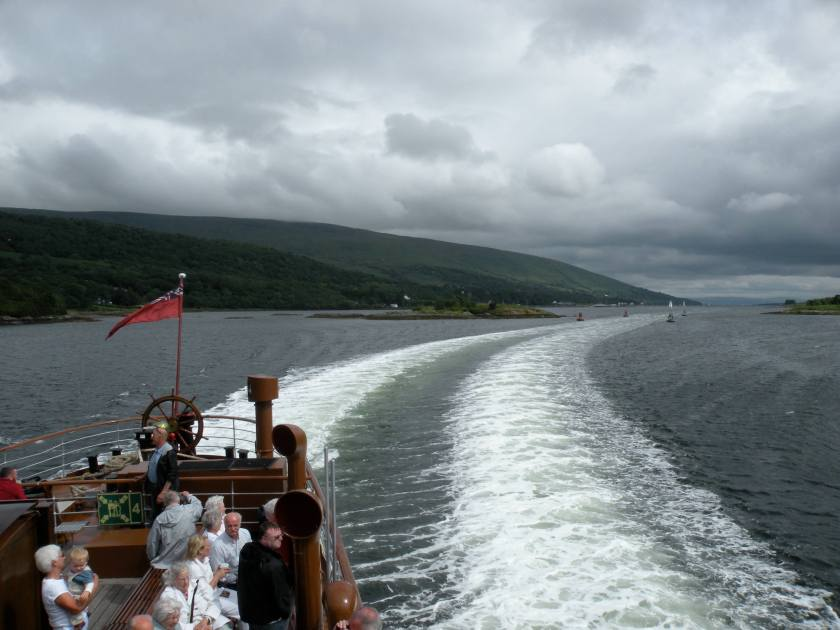 Steaming Through The Kyles of Bute 1