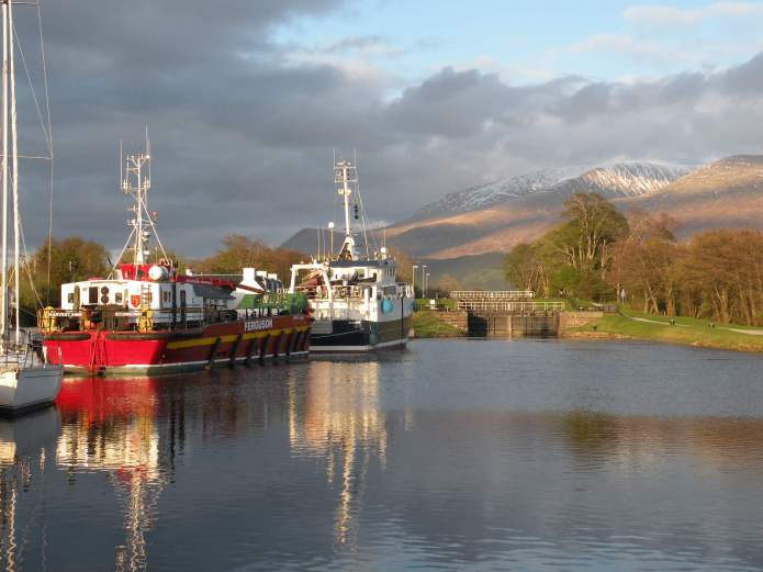 Corpach Basin ...Western entrance to the Caledonian Canal