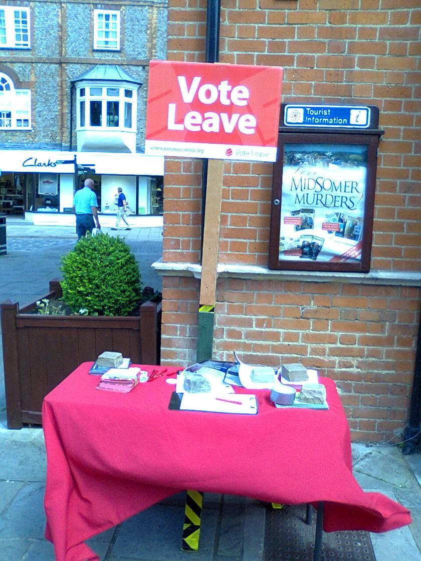 Vote Leave Table