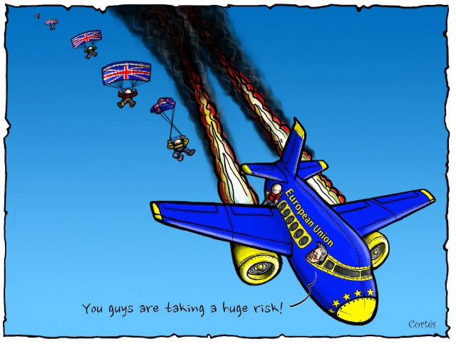 Brexit Crashing aircraft