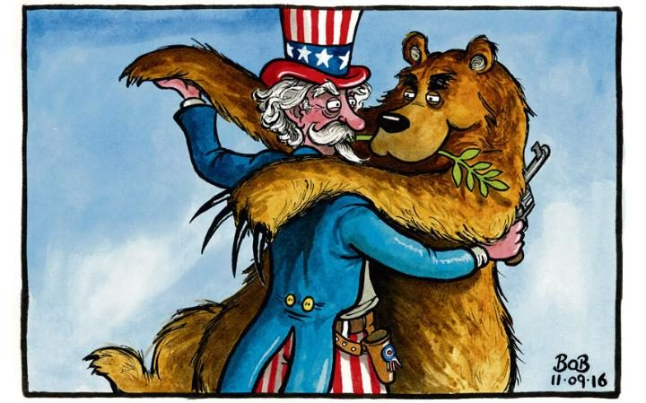 Uncle Sam and bear