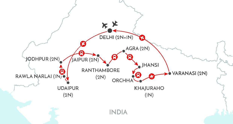 India Itinererary